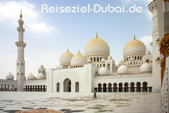 Sheikh Zayed Moschee Abu Dhabi  Dubai Reisen  Dubai