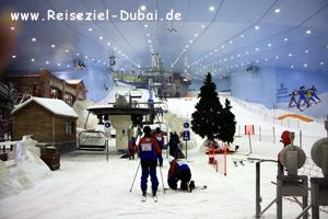 Skifahren in der Emirates Mall